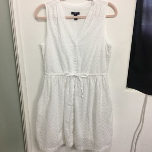 Gap White Eyelet Dress Size Small